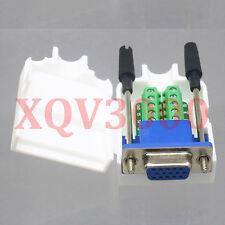 Connector DB15 D-SUB VGA female stud Terminal breakout Cover 3+6 Data
