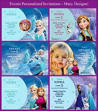Frozen Elsa Anna Personalised Invitations Cards Invites Party Supplies Australia