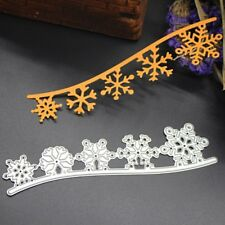 Snowflake Cutting Dies Stencil DIY Scrapbook Embossing Album Paper Craft Decor
