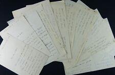 Général & Ecrivain Henri BONNAL, 12 autographes / Belle Correspondance militaire