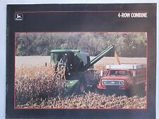 1987 John Deere 4425 4 Row Combine Dealer Brochure LOTS More Listed