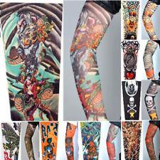 8 x Stretch Nylon Fake Tattoo Sleeves/Arms - Fancy Dress,Girl/Heart/Dragon/Snake