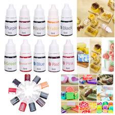 10 Colors Dyes Soap Making Coloring Set Liquid Kit Colorants For DIY Bath Bomb