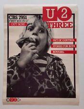 U2 THREE 3 'Out Of Control' CBS Original Irish Promo Poster 1979 Post PunK Rare