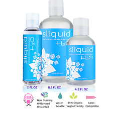 Sliquid H20 Natural Gel Aloe Based Intimate Lubricant - Choose Size