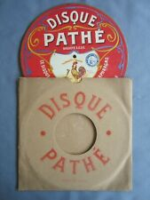 Ancien Disque Pathé fibro - ciment pour phonographe