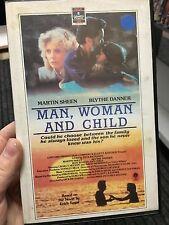 Man Woman And Child ex-rental VHS tape (1983 Martin Sheen drama movie) RARE