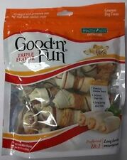 Healthy Hide || Good 'n' Fun Triple Flavor Chews || 18  Mini Bones