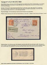 Lz126 Zeppelin Flight Cover Germany To Canada Uss Los Angeles Zr3 Hv9217