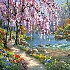 Spring 16x20 Paint by Number Canvas Kit DIY Oil Painting No Frame for Adults