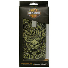 Harley Davidson 7728 Silicone TPU Green Skull Cover for Samsung Galaxy S5