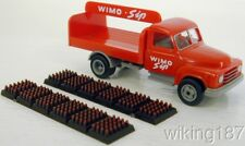 """WIKING NEW HO 1/87 Hanomag 2-axle Soda Delivery Truck """"WIMO Sip"""" w/Soda Bottles"""