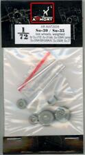 Armory Models 1/72 SUKHOI Su-30 & Su-35 FLANKER WEIGHTED WHEEL SET Resin Set