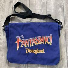 RARE Vintage Disneyland Fantasmic Blue Messenger Bag w/ Strap Size 15 X 12 in