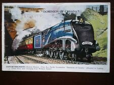 POSTCARD DOMINION OF CANADA LNER CLASS A4 LOCO WITH THE FLYING SCOTSMAN AT WELWY