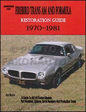 Trans Am Firebird and Formula Restoration Guide Manual 1980 1979 1978 1977 1976