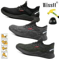 AU Mens Steel Toe Safety Shoes Trainers Work Boots Sports Hiking Shoes Sneakers