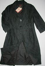 Avoca Mantel-Kleid Coat Filigrct Black Spitze 3/4 Ärmel Schwarz size:2/S/38 Neu