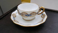 Small Shaped Cup and SOUCOUPE by koenigszelt sitesia with a Gold and Blue Pattern