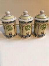 Royal Doulton Carmina(set of 3) Spice Jars