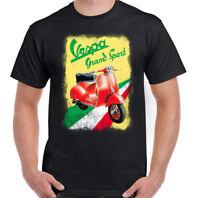 Vespa Grand Sport Mens Scooter T-Shirt MOD The Who Paul Weller Motorbike Moped