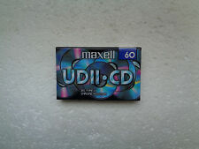 Vintage Audio Cassette MAXELL UDII.CD 60 * Rare From UK 1998 *