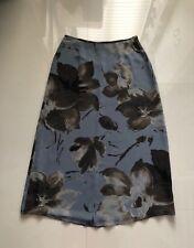 Women's Multi Color Liz Claiborne Lined Long Straight  Floral  Skirt sz 12