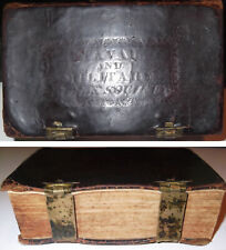 1826 Antique Naval And Military Holy Bible Old & New Testament Navy Army Marines