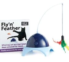 Fly 'n' Feather-Sharples N Grant Chat Chaton Jouer Ruff Tumble Pet Spinning jouet