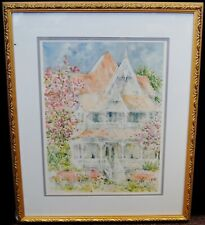 "Beth Eidelberg ""Victorian Home"" 1985 Lithograph Print Arts Limited 23x19"" B4418"