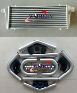 """Intercooler 450 X230 X 52mm Front Mount +2.25""""aluminium piping+BLK Silicone HOSE"""