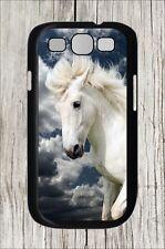 HORSE WHITE STALLION CLOSE UP HEAD #7 SAMSUNG GALAXY S3 CASE COVER -hub7Z