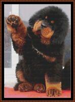 GIMME FIVE cross stitch pattern PDF (point de croix) [dog puppy]
