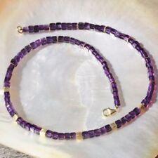 Markenlose Sets mit Amethyst-Halsketten mit Edelsteinen