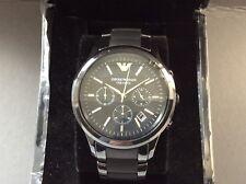Emporio Armani AR1452 Men's Wristwatch New in presentation box Black dial /strap
