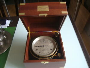 VERY RARE SWISS marine chronometer PAUI DITISHEIM #36402 8 days