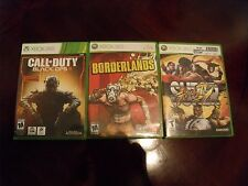 call of duty black ops 3 borderlands street fighter 4 xbox 360 game lot