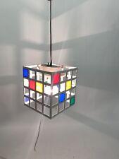 Fresh! VTG 1960s Mondrian Style Cage Light Pendant Lamp