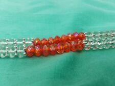 waist bead red and clear