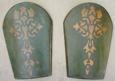 Lot 2 Green Leather Shield LARP SCA Armor Medieval Prince of Persia Movie Prop D