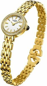 Rotary ' Cocktail' Quartz Stainless Steel Casual Watch, Color:Gold-Toned (Model: