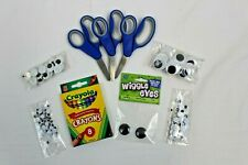Kids Crafts Lot: Scissors, Crayons and Googly Eyes!