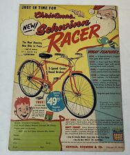 1955 SCHWINN RACER bicycle ad page ~ Just In Time For Christmas