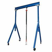 Vestil Steel Gantry Crane AHS-2-10-12 2000 Lb. Capacity, Adjustable Height