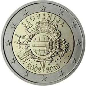 2 Euro SLOVENIE 2012 Dix ans de billets et pièces en euros PROMO JUIN NOUVEAU!!!