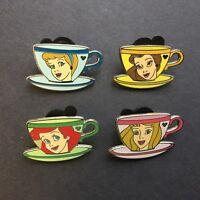 Hidden Mickey Princess Tea Cups Ariel Belle Aurora Cinderella 4 Disney Pin 70643