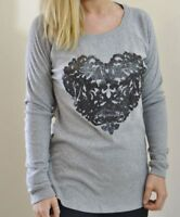 NEW NEXT LADIES UK 8 GREY SOFT BRUSHED 100% COTTON LONG SLEEVED TOP