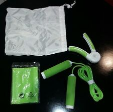 Active Workout Set Hand Grip Skipping Rope Resistance Band in green