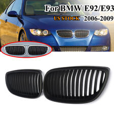 Matte Black Kidney Grill Grille for BMW E92 E93 3 Series Coupe Cabriolet 06-09