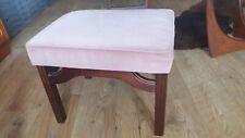 G Plan Dressing Table Stool/Footstool in teak Fabric astro fresco